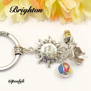 Brighton Key Fob Fun In The Sun Silver